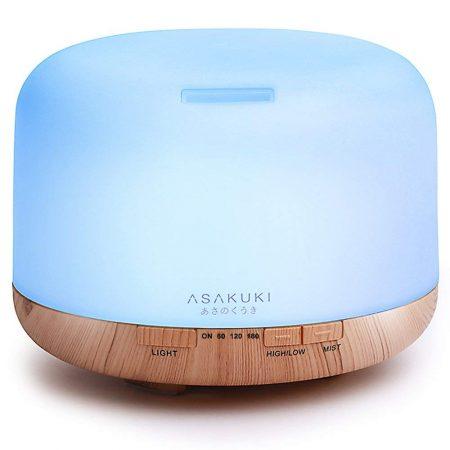 ASAKUKI 500ml Premium, Essential Oil Diffuser, Ultrasonic Aromatherapy Fragrant Oil Vaporiser Humidifier